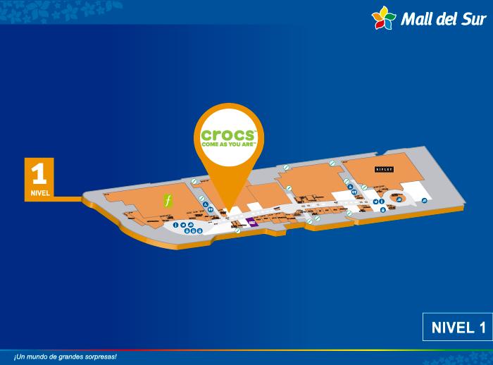 Crocs - Mapa de Ubicación - Mall del Sur