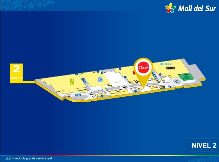 CLARO  - Mapa de Ubicación - Mall del Sur