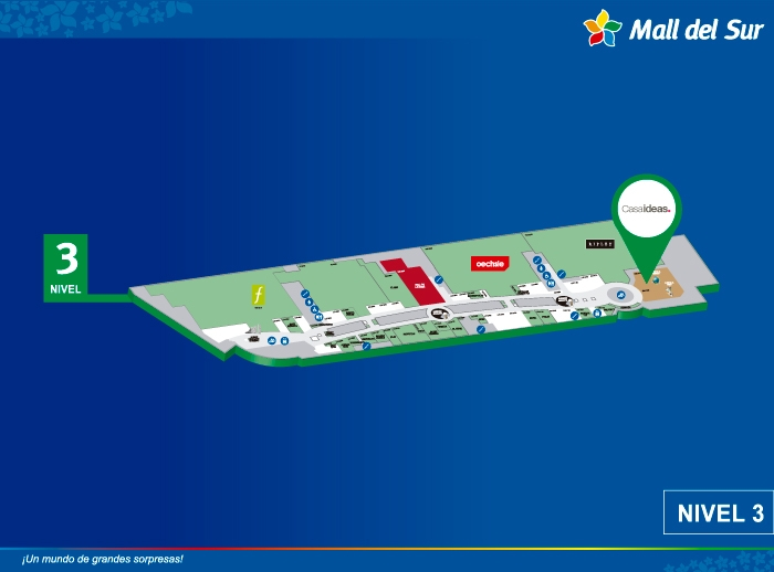 CASAIDEAS - Mapa de Ubicación - Mall del Sur