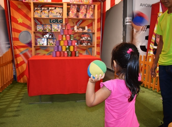 Tumba lata y juegos de feria - Mall del Sur