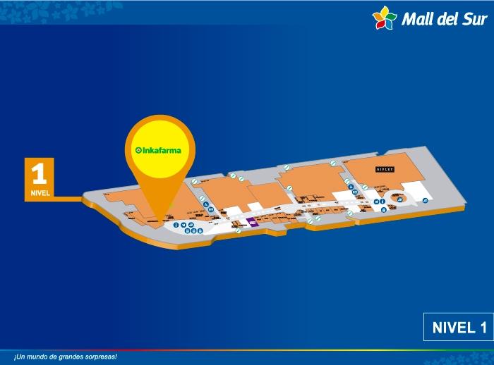 INKAFARMA - Mapa de Ubicación - Mall del Sur
