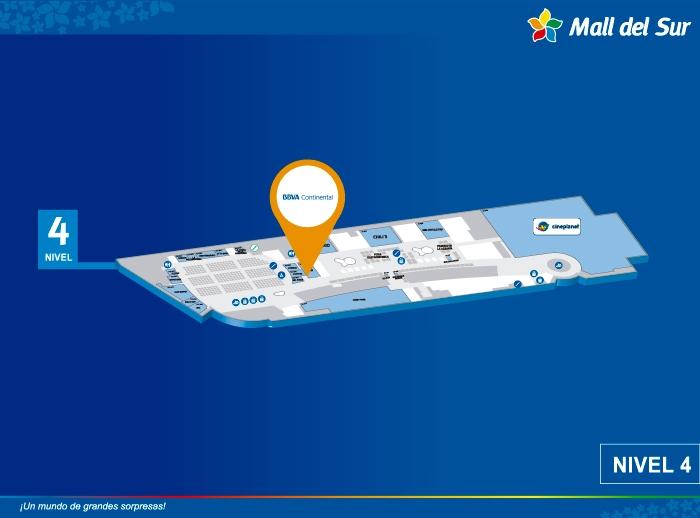 Cajero BBVA - Mapa de Ubicación - Mall del Sur