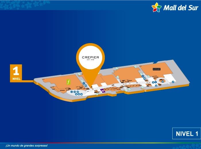 Crepier  - Mapa de Ubicación - Mall del Sur