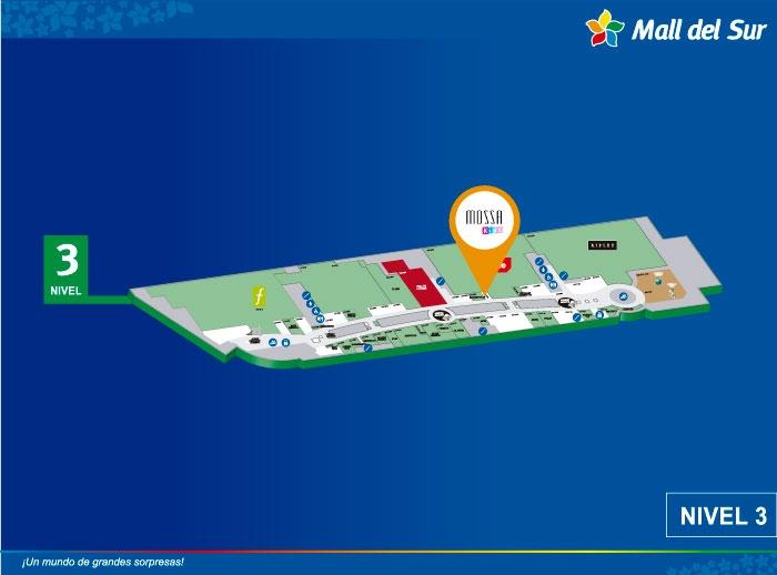 MOSSA KIDS - Mapa de Ubicación - Mall del Sur