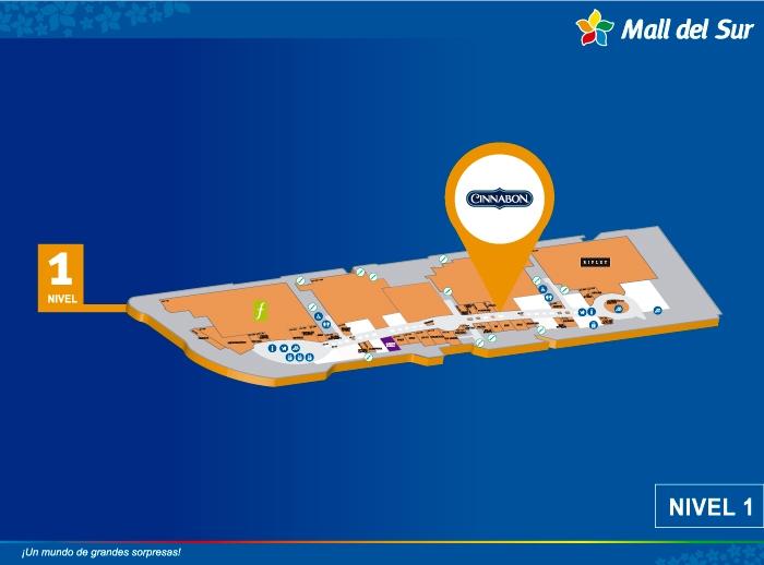 CINNABON - Mapa de Ubicación - Mall del Sur