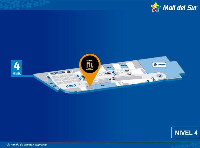 SMART FIT - Mapa de Ubicación - Mall del Sur