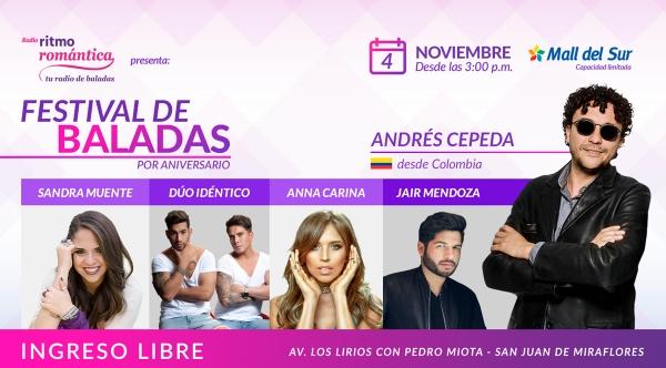 FESTIVAL DE BALADAS DE RITMO ROMÁNTICA - Mall del Sur