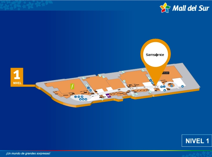 SAMSONITE - Mapa de Ubicación - Mall del Sur