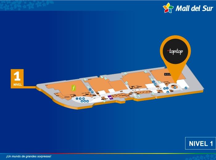 TOPI TOP - Mapa de Ubicación - Mall del Sur
