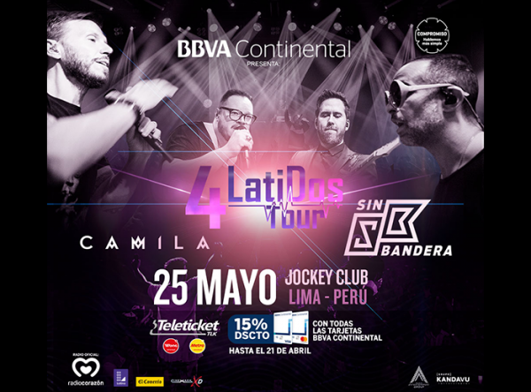CONCURSO 4 LATIDOS TOUR - Plaza Norte