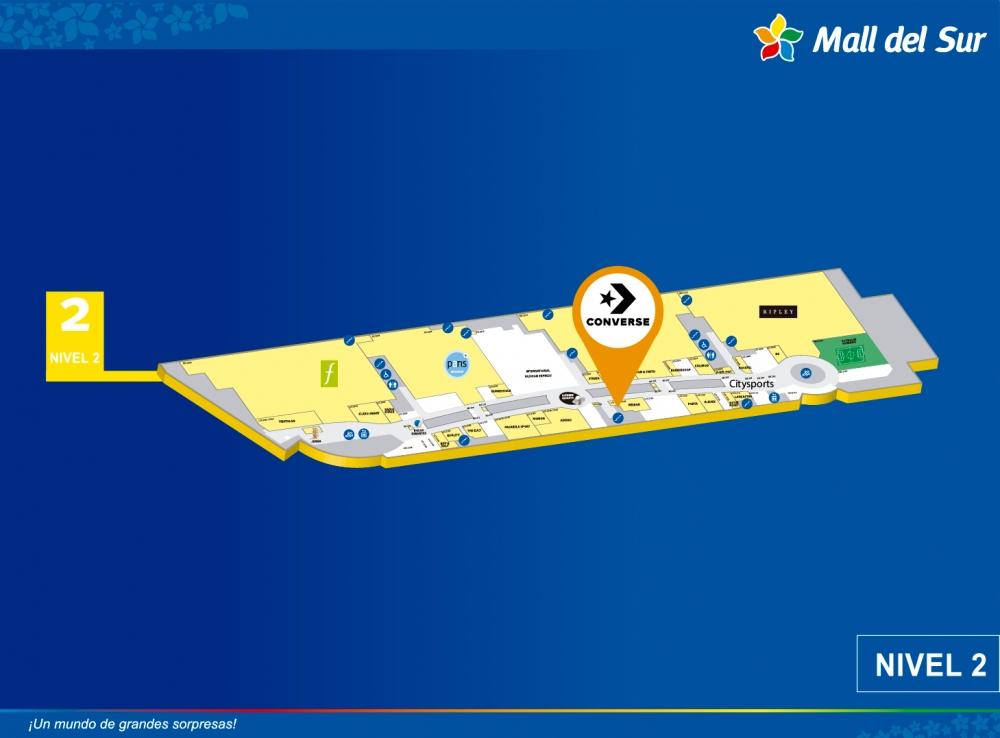 CONVERSE - Mapa de Ubicación - Mall del Sur