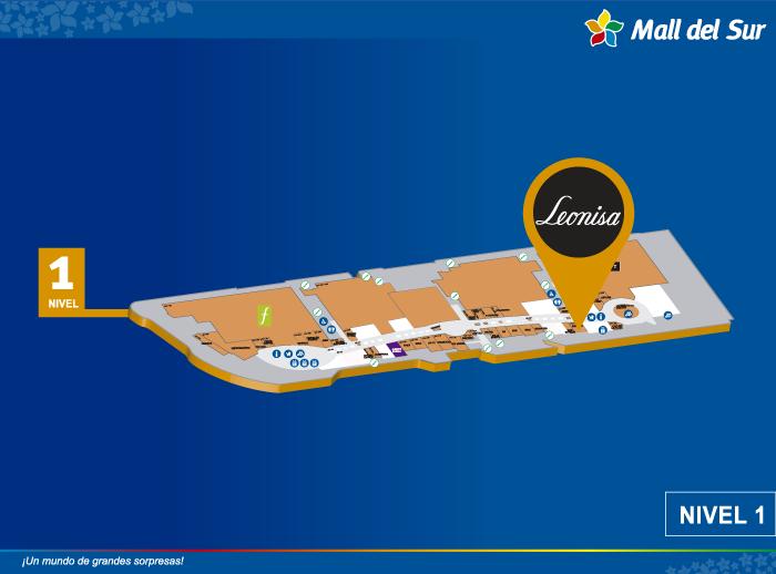 LEONISA - Mapa de Ubicación - Mall del Sur