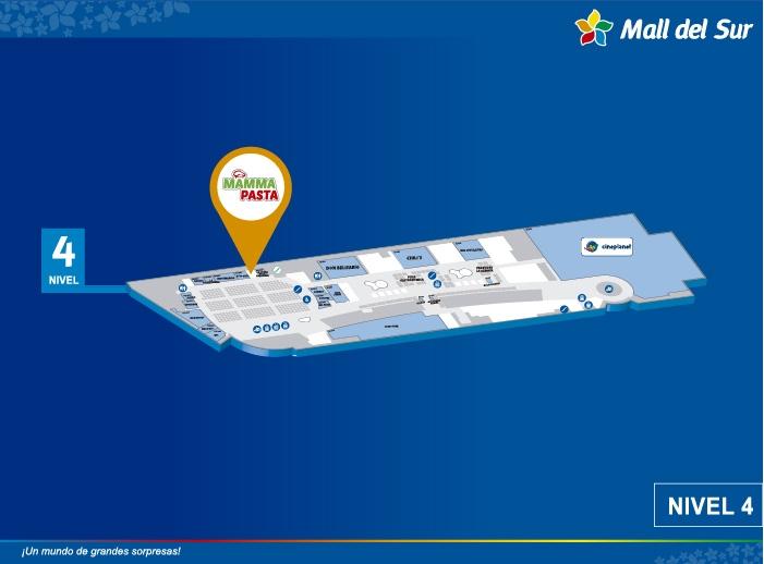 MAMMA PASTA - Mapa de Ubicación - Mall del Sur