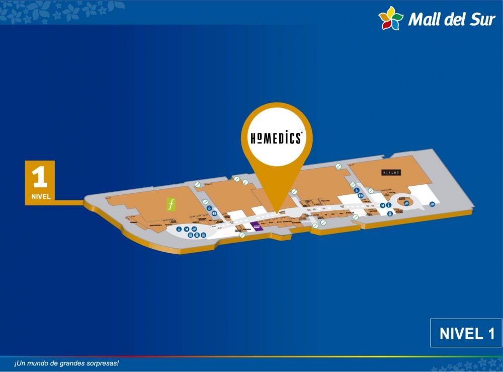 HOMEDICS - Mapa de Ubicación - Mall del Sur