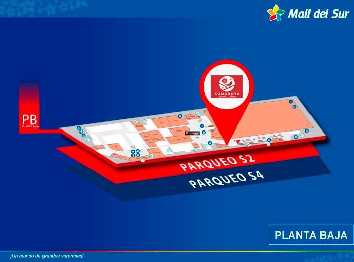 KOMONOYA - Mapa de Ubicación - Mall del Sur
