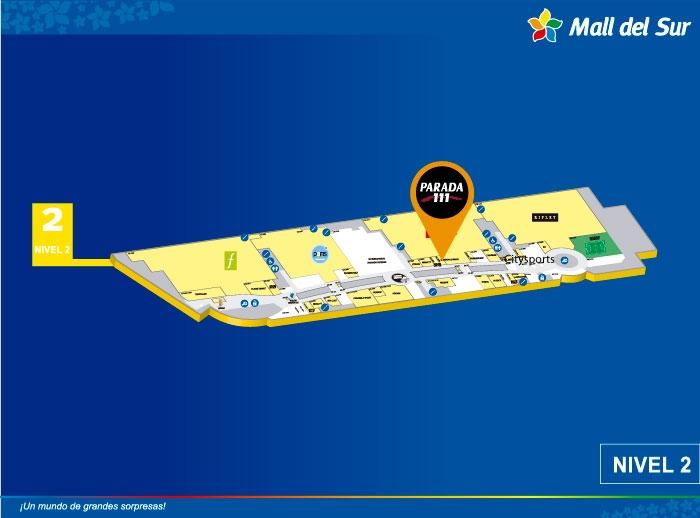 PARADA 111 - Mapa de Ubicación - Mall del Sur