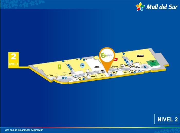 MIDWAY - Mapa de Ubicación - Mall del Sur