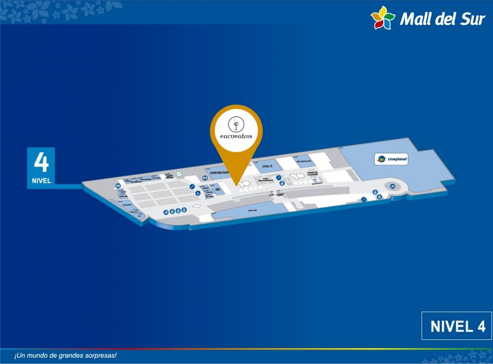 ENCUENTROS PISCO Y BAR - Mapa de Ubicación - Mall del Sur