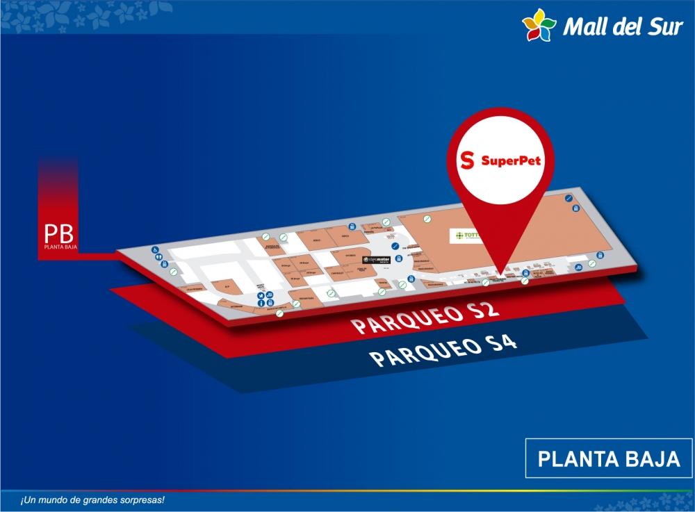 SUPERPET - Mapa de Ubicación - Mall del Sur