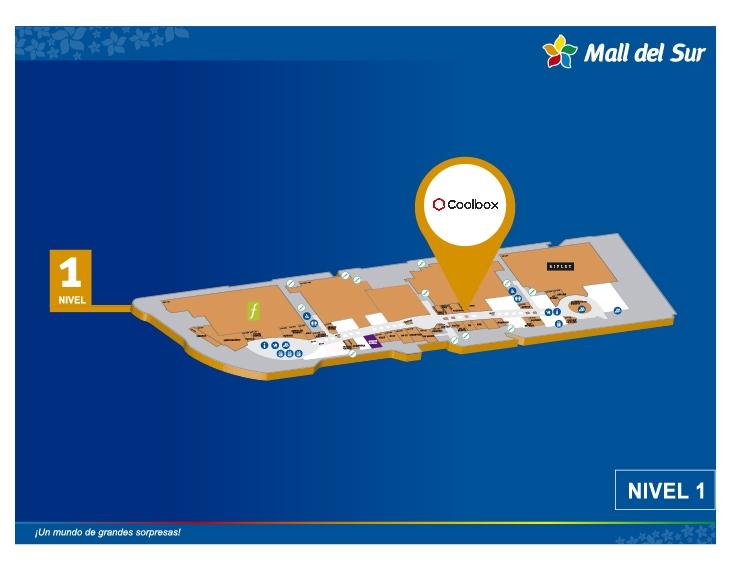 COOLBOX - Mapa de Ubicación - Mall del Sur
