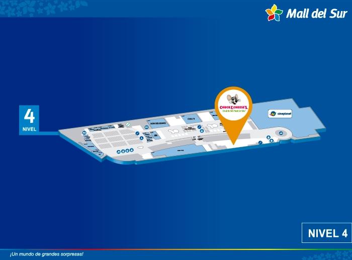 CHUCK E. CHEESE'S - Mapa de Ubicación - Mall del Sur