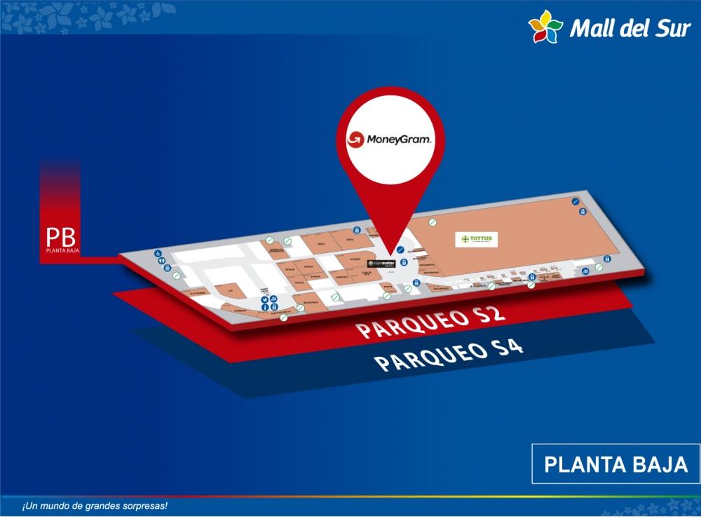 MONEYGRAM - Mapa de Ubicación - Mall del Sur
