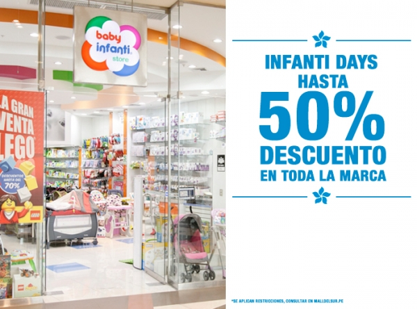 HASTA 50% DCTO EN TODA LA MARCA Baby Infanti - Mall del Sur