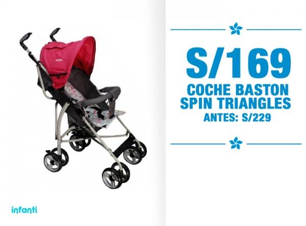 COCHE BASTON SPIN TRIANGLES A SOLO S/169. Baby Infanti - Mall del Sur