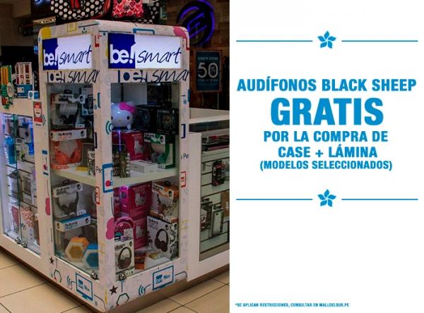 AUDÍFONOS BLACK SHEP GRATIS POR COMPRA DE CASE + LÁMINA Be Smart - Mall del Sur