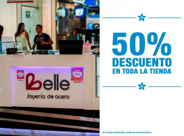 50% DCTO EN TODA LA TIENDA Belle Accesorios - Mall del Sur