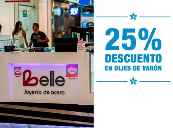 25% DCTO EN DIJES DE VARON Belle Accesorios - Mall del Sur