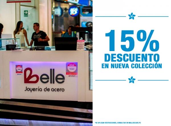 15% DCTO EN NUEVA COLECCIÓN Belle Accesorios - Mall del Sur