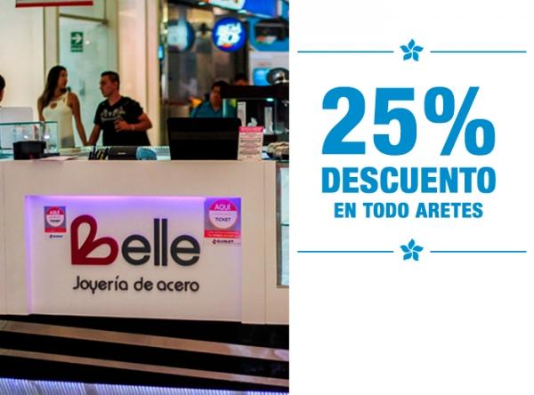 25% DCTO EN TODO ARETES Belle Accesorios - Mall del Sur