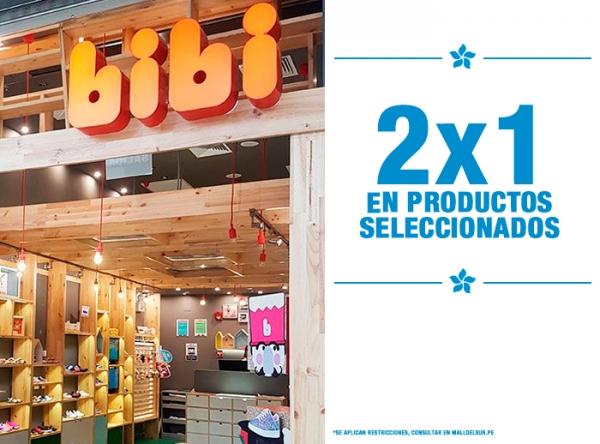 2 X 1 EN PRODUCTOS SELECCIONADOS BIBI - Mall del Sur