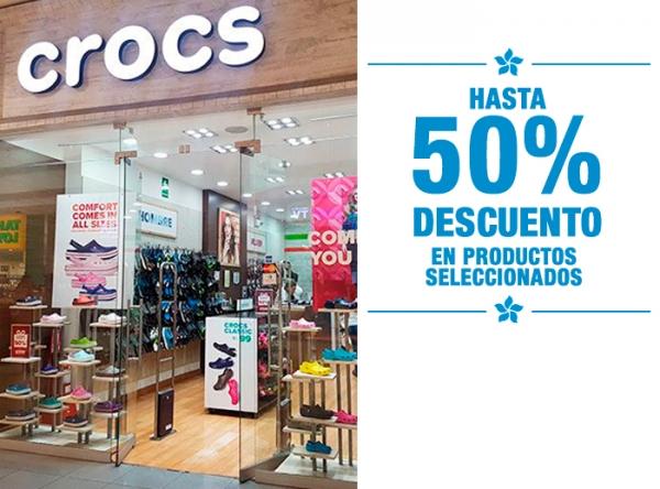HASTA 50% DCTO EN PRODUCTOS SELECCIONADOS Crocs - Mall del Sur