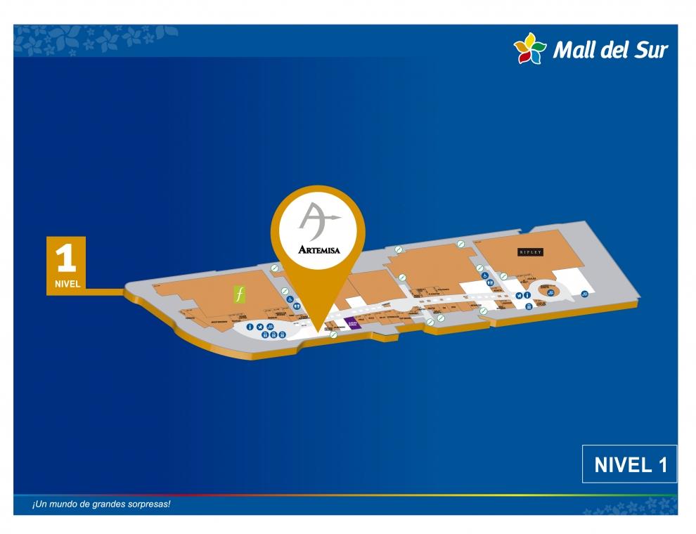 ARTEMISA - Mapa de Ubicación - Mall del Sur