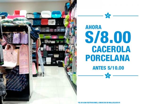 CACEROLA PORCELANA A SOLO S/8.00 KOMONOYA - Mall del Sur