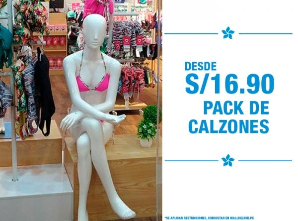 PACKS DE CALZONES DESDE S/16.90 LILI PINK   - Mall del Sur
