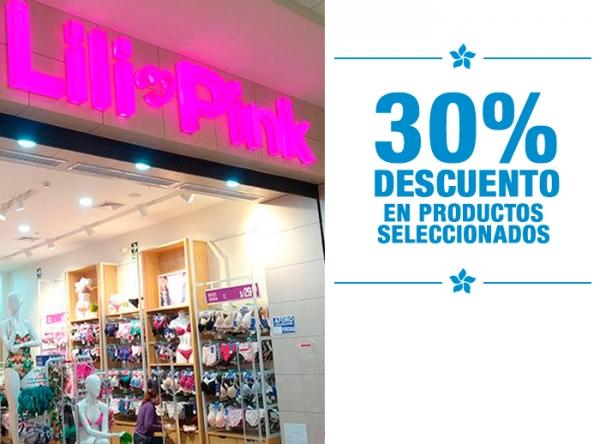 30% DCTO EN PRODUCTOS SELECCIONADOS LILI PINK   - Mall del Sur
