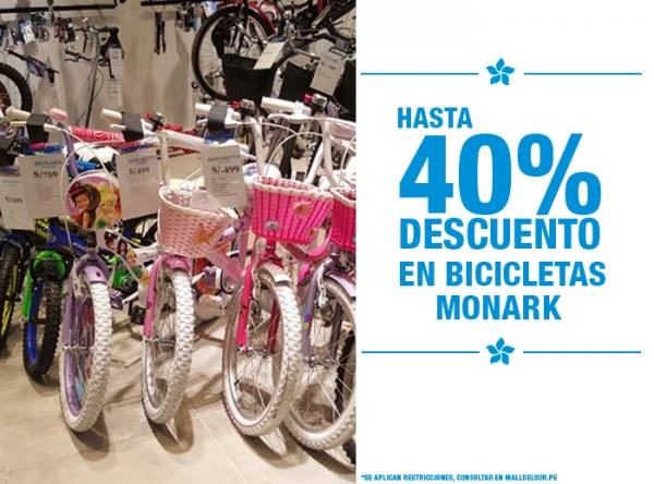 HASTA 40% DCTO EN BICICLETAS MONARK MONARK - Mall del Sur
