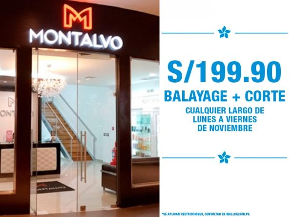 BALAYAGE + CORTE S/199.90 DE LUNES A VIERNES MONTALVO - Mall del Sur