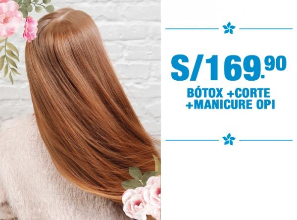 BÓTOX + CORTE + MANICURE OPI A S/169.90 - MONTALVO - Mall del Sur