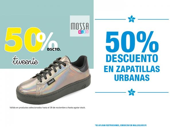 50% DCTO EN ZAPATILLAS URBANAS MOSSA KIDS - Mall del Sur