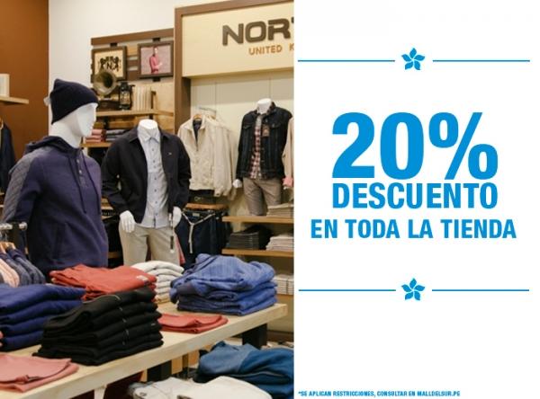 20% DCTO EN TODA LA TIENDA Norton - Mall del Sur