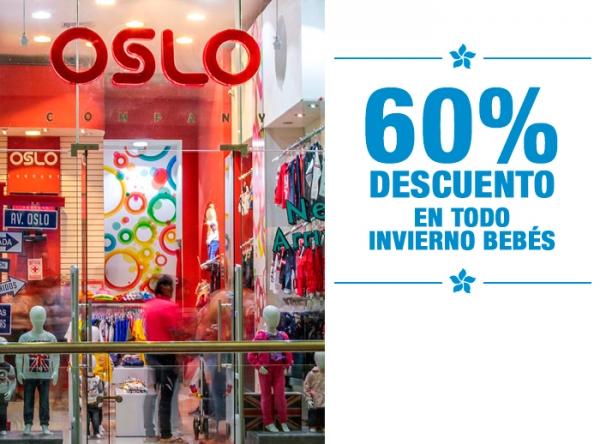 60% DCTO EN TODO INVIERNO BEBÉS Oslo - Mall del Sur