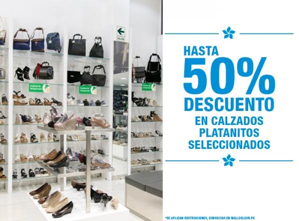 HASTA 50% DCTO EN CALZADOS PLATANITOS Platanitos - Mall del Sur