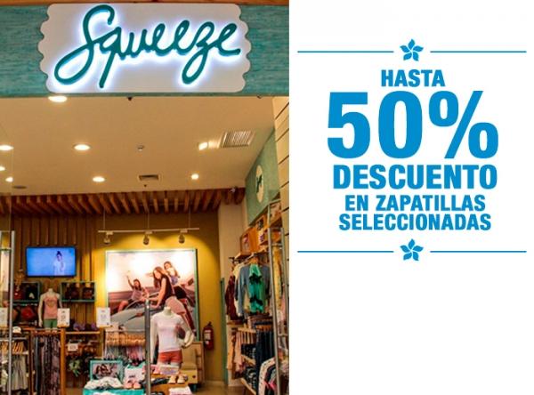 HASTA 50% DCTO EN ZAPATILLAS SELECCIONADAS squeeze - Mall del Sur