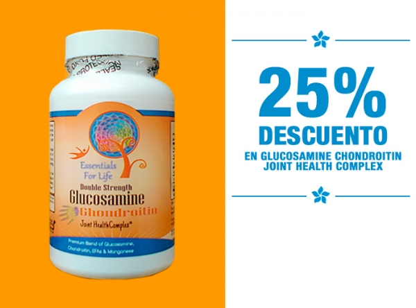 25% DCTO EN GLUCOSAMINE CHONDROITIN JOINT HEALTH COMPLEX - Natural Center - Mall del Sur