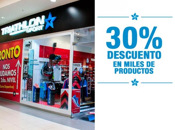 30% DCTO EN MILES DE PRODUCTOS - TRIATHLON SPORT  - Mall del Sur