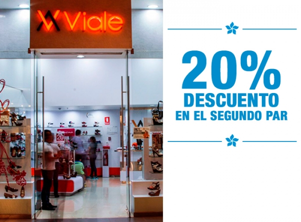 20% DCTO EN EL SEGUNDO PAR  Viale - Mall del Sur